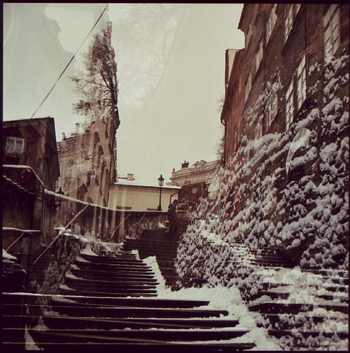 stairs to the prague castle