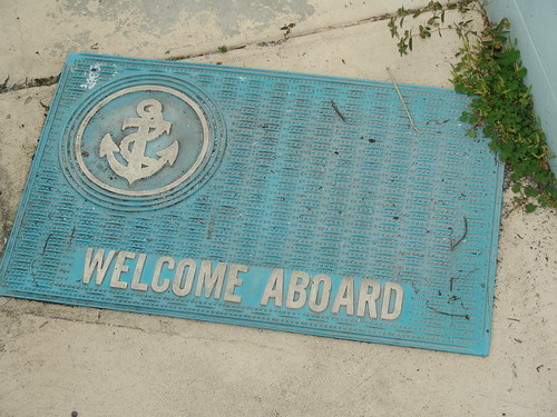 The welcome mat on Bill's pier by Vincent Maher