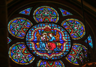 Image of Cathedral of Notre Dame de Paris. notredame paris cathedral coronation stainedglass xss îledefrance france cfp16