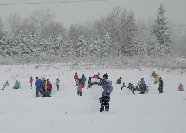 Recess in the Snow