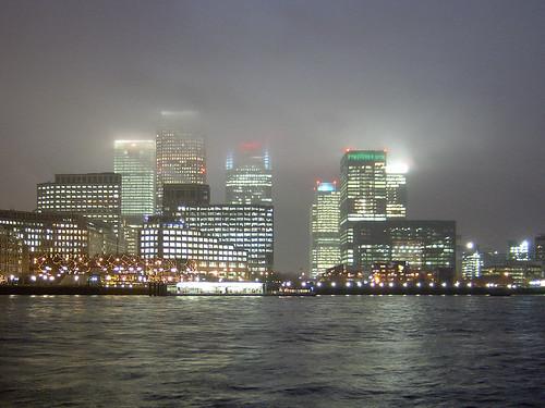 Canary Wharf Fog
