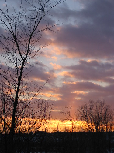 sunset saintjohnriver fredericton newbrunswick 2005 december clouds sky sunpillar sun pillar