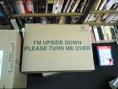 I'm upside down, please turn me over...