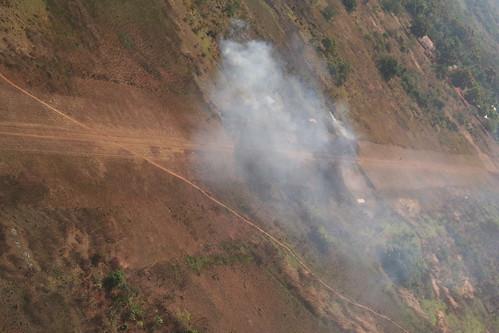 flying airstrip burning fire plane africa car centralafricanrepublic zemio