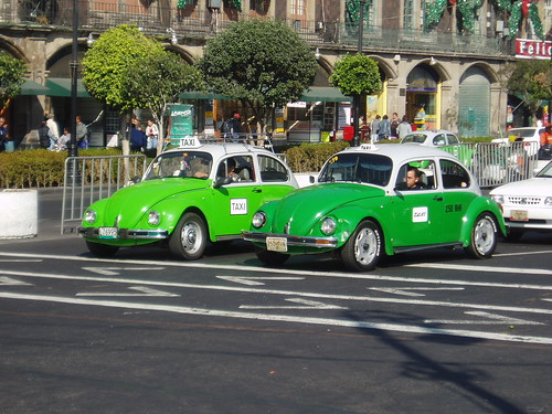 Taxis in Mexico City