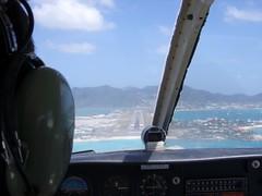 Approach to St. Maarten