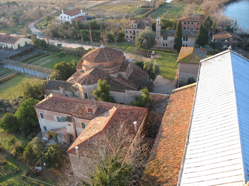 Santa Fosca from the air