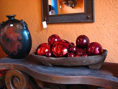 Red glass ornaments