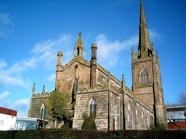 St Peters Church. 1825. Preston, Lancashire. UK.