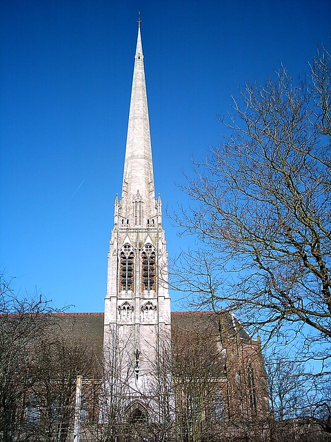 The Steeple of St Walburge's Church, Preston, Lancashire. UK