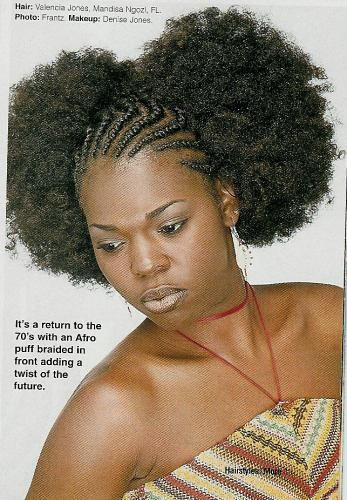 Afro puffs with cornrows | Flickr - Photo Sharing!