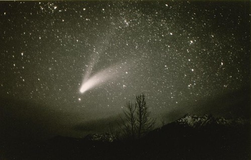 Olympic Mountains / Comet Hale-Bopp