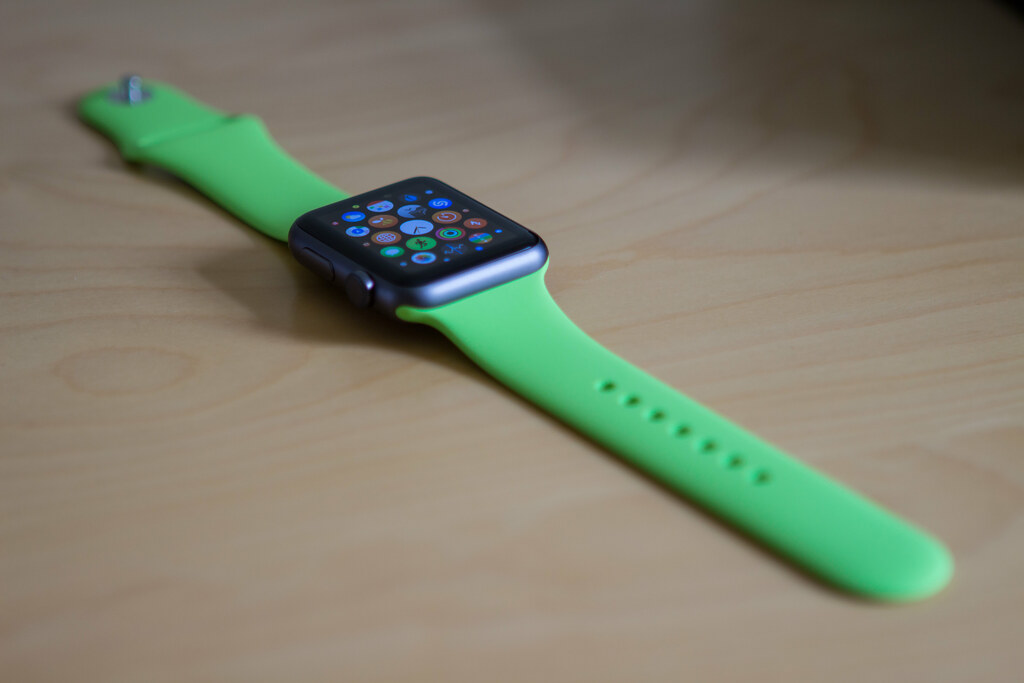 Apple Watch - Green Sport Band