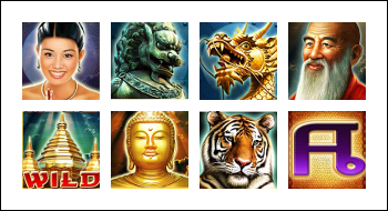 free Thai Temple slot game symbols