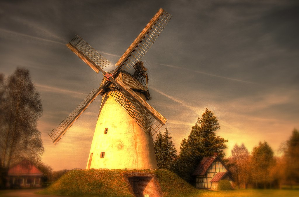 Windmill Friedewalde-Germany (Art)