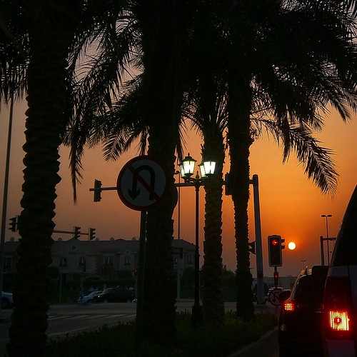 sunset crimson dubai horizon uae iftartime mydubai