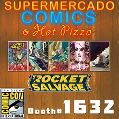 #SuperMercadoComics #SDCC Booth 1632 #RocketSalvage bundle with Free Sketch and 11x17 pin up. @boom_studios @archaia #comics #Cars #SciFi