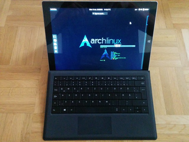 Arch Linux на Microsoft Surface Pro 3
