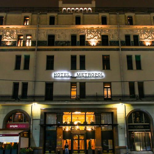 Facade of Hotel Metropol Moscow, Russia モスクワ、ホテル・メトロポール外観