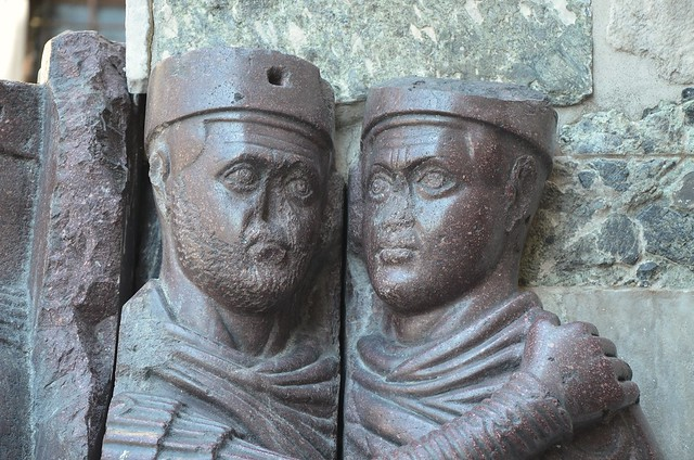 Portrait of the Four Tetrarchs (Diocletian, Maximianus, Galerius & Constantius), a porphyry sculpture sacked from the Byzantine Philadelphion palace in 1204, c. 305 AD, Venice
