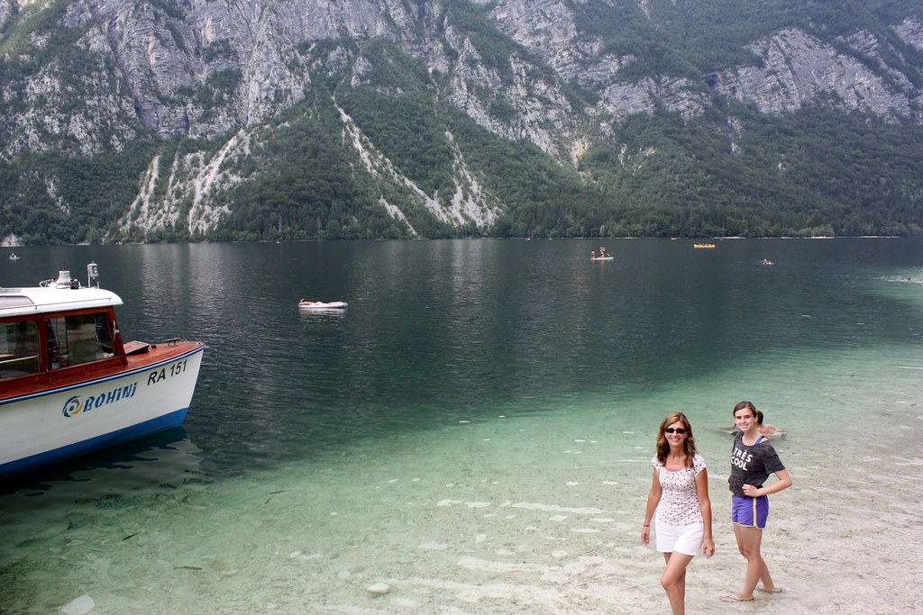 Logan and Patti at Lake Bohinj Slovenia