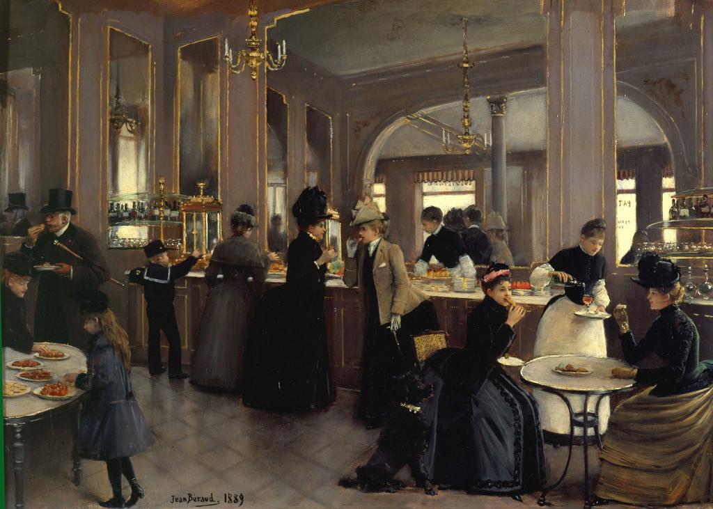 La Patisserie Gloppe au Champs Elyssées by Jean-Georges Béraud , 1889