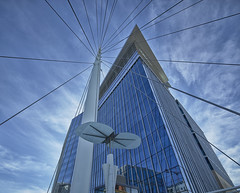Denver Millennium Bridge with DaVita Building