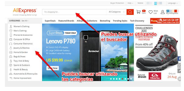 paso 1 para Comprar Aliexpress Argentina