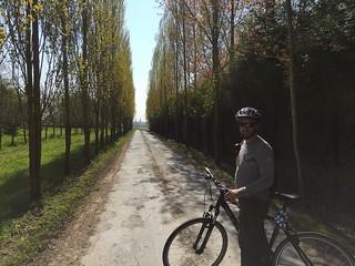 Alan on a country lane outside Bayeux