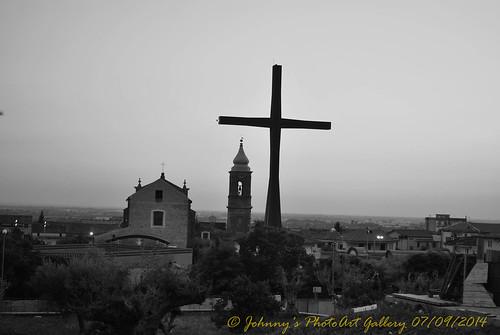 Vista da lontano della Croce del III Millennio
