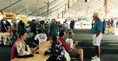 Attendees at a recent market