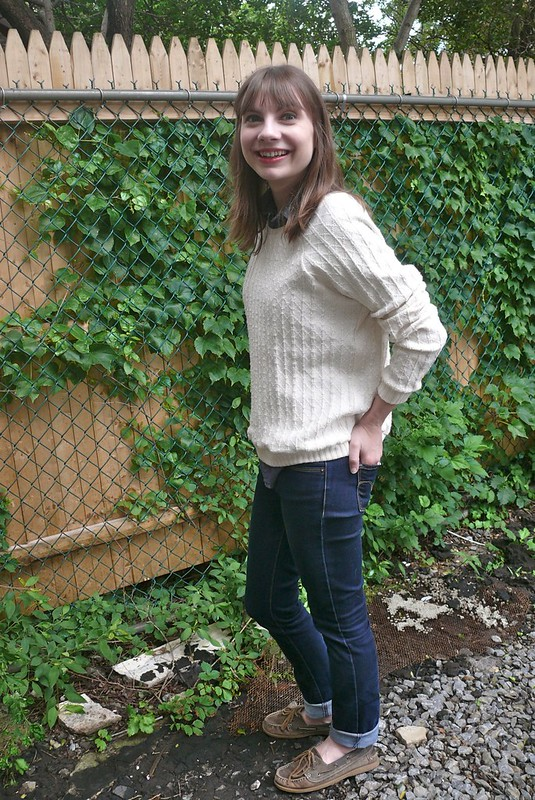 Grainline Studio Linden in O! Jolly! knit | Ginger Makes