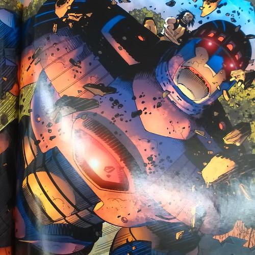 Wolverine riding a sentinel against ninjas #wolverine #hydra #enemyofthestate #markmillar #johnromitajr #sentinels