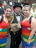 Dr. Takeshi Yamada and Seara (sea rabbit) visited the Gay Pride Parade in Manhattan, New York on June 28, 2015. The US President Barack Obama supports same-sex marriage. gay marriage. 100_8375=C by searabbits23