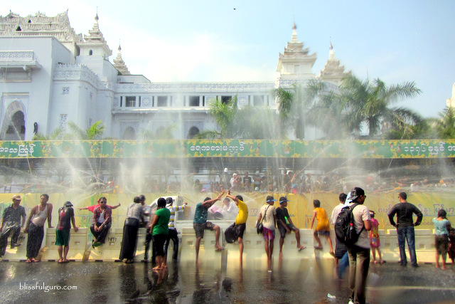 Yangon Myanmar Thingyan Water Festival