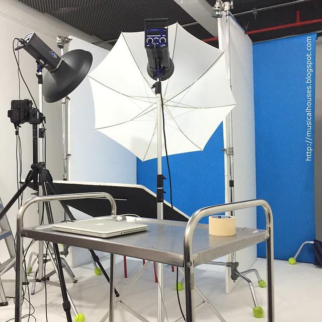 Hada Labo BTS Photoshoot Setup