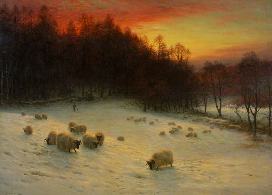 When the West with Evening Glows by Joseph Farquharson, 1910