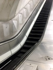 Disused escalator from Charing Cross Jubilee line platforms