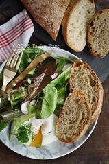 Homemade No Knead Bread and Homegrown Salad Leaves