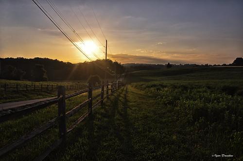 road light summer sun night shadows walk think away wires lead far ночь вечер тени
