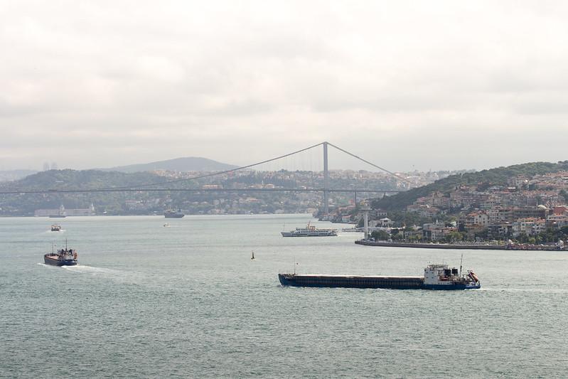 Bosphorus landscape from Topkapi Palace terrace
