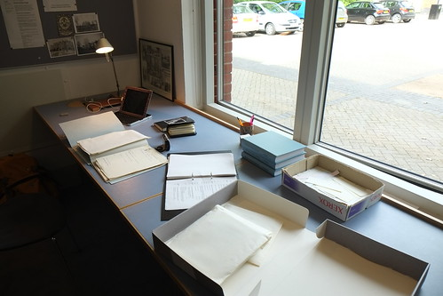 My desk at Newnham College