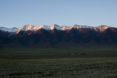 ranch sunset snow mountains landscape colorado scenic wilderness sangredecristomountains wondersofnature westernlandscape earthnaturelife