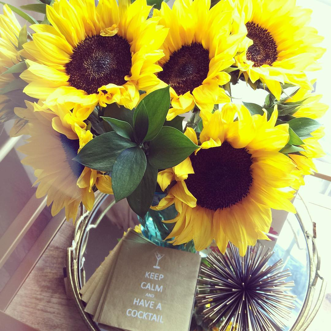 Enjoying these beautiful sunflowers that arrived in the cutest clear blue mason jar this morning. Morning is the best time for me to sit and evaluate my life. With summer wrapping up and our vacation at Disney over, I am dreaming about our next vacation.