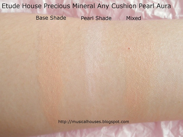 Etude House Any Cushion Pearl Aura Swatch