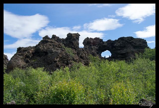 Islandia Myvatn Godafoss Akureyri Glaumbaer Vidimyrarkirkja Grundarfjordur - Formaciones de lava de Dimmuborgir