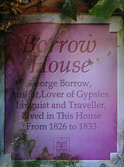 Photo of George Borrow brown plaque
