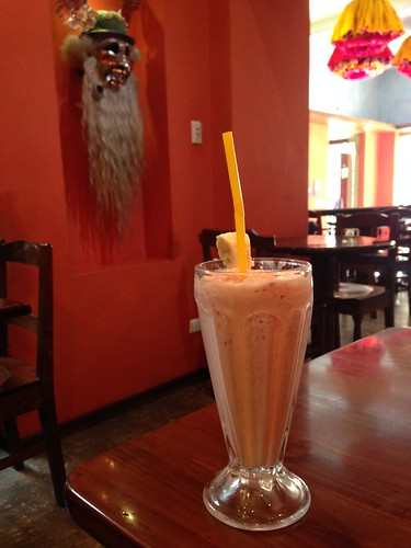 Great tho costly smoothies at Banais.  La Paz, Bolivia.