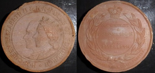 1953 Elizabeth II Coronation soap medal