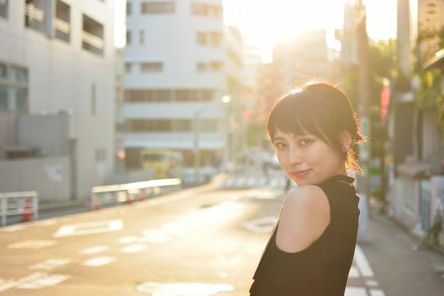 橘杏(あんぽむ)撮影会_原宿3_逆光ポートレート